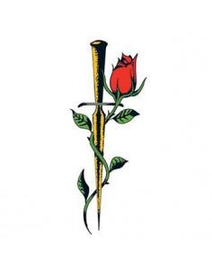 Ruža s dýkou - nalepovacie...