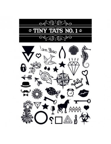 Čiernobiele tetovačky - sada 1