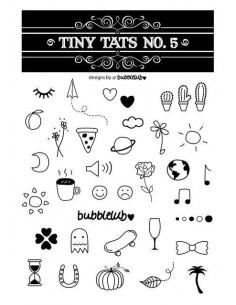 Čiernobiele tetovačky - sada 5