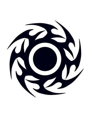 Čierny disk - tribal nalepovacie...