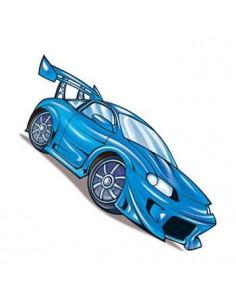Modré pretekárske auto -...