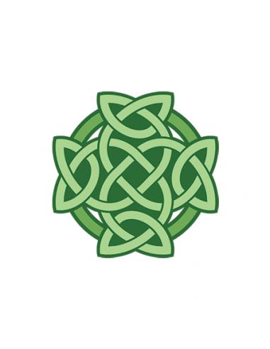 Zelený keltský uzol - nalepovacie...