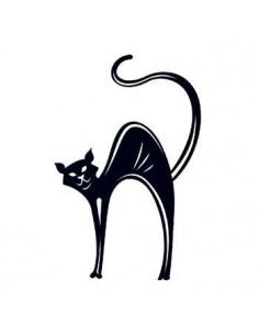 Čierna mačka svietiaca v...