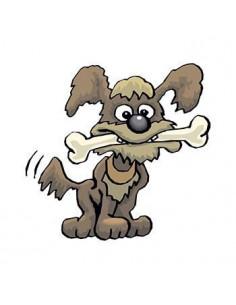 Pes s kosťou - nalepovacie...