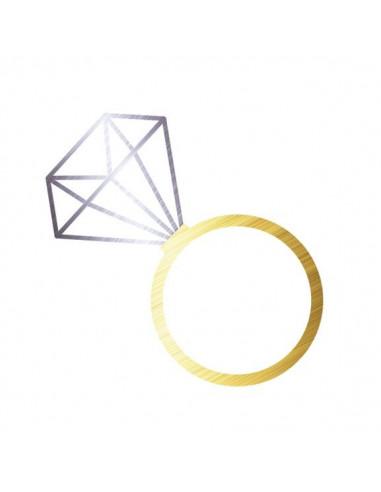 Metalický diamantový prsteň -...