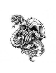 Lebka s hadom - nalepovacie...