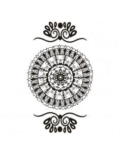 Čierna mandala - henna...