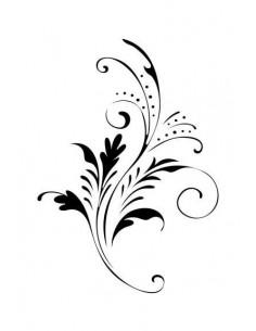 Jemný kvetinový motív -...