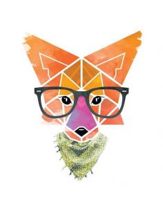 Hipster geometrická líška -...
