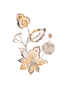 Metalická zlatá kvetina -...